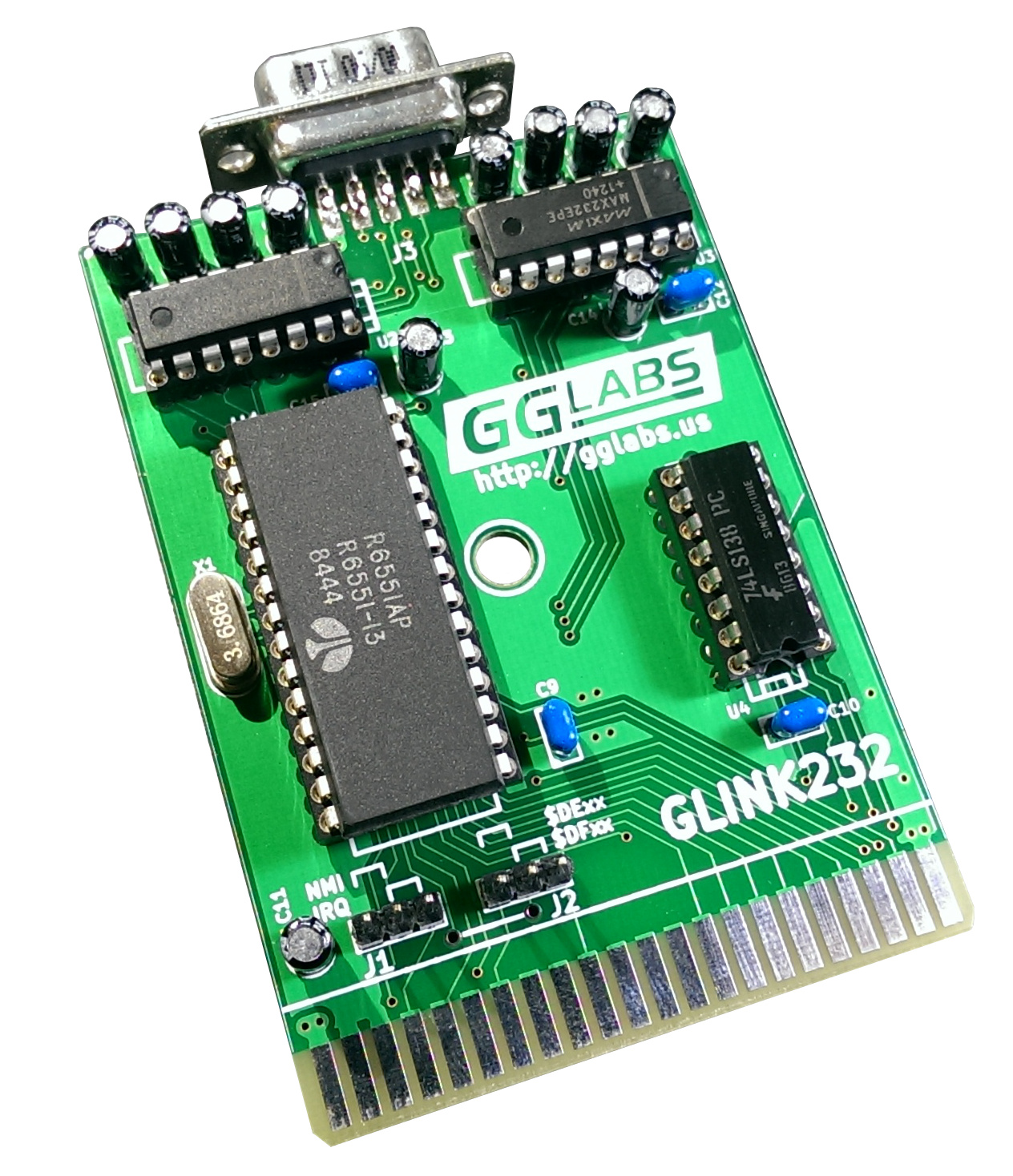 GLINK232-A01 - UART cartridge for Commodore 64/128   gglabs us