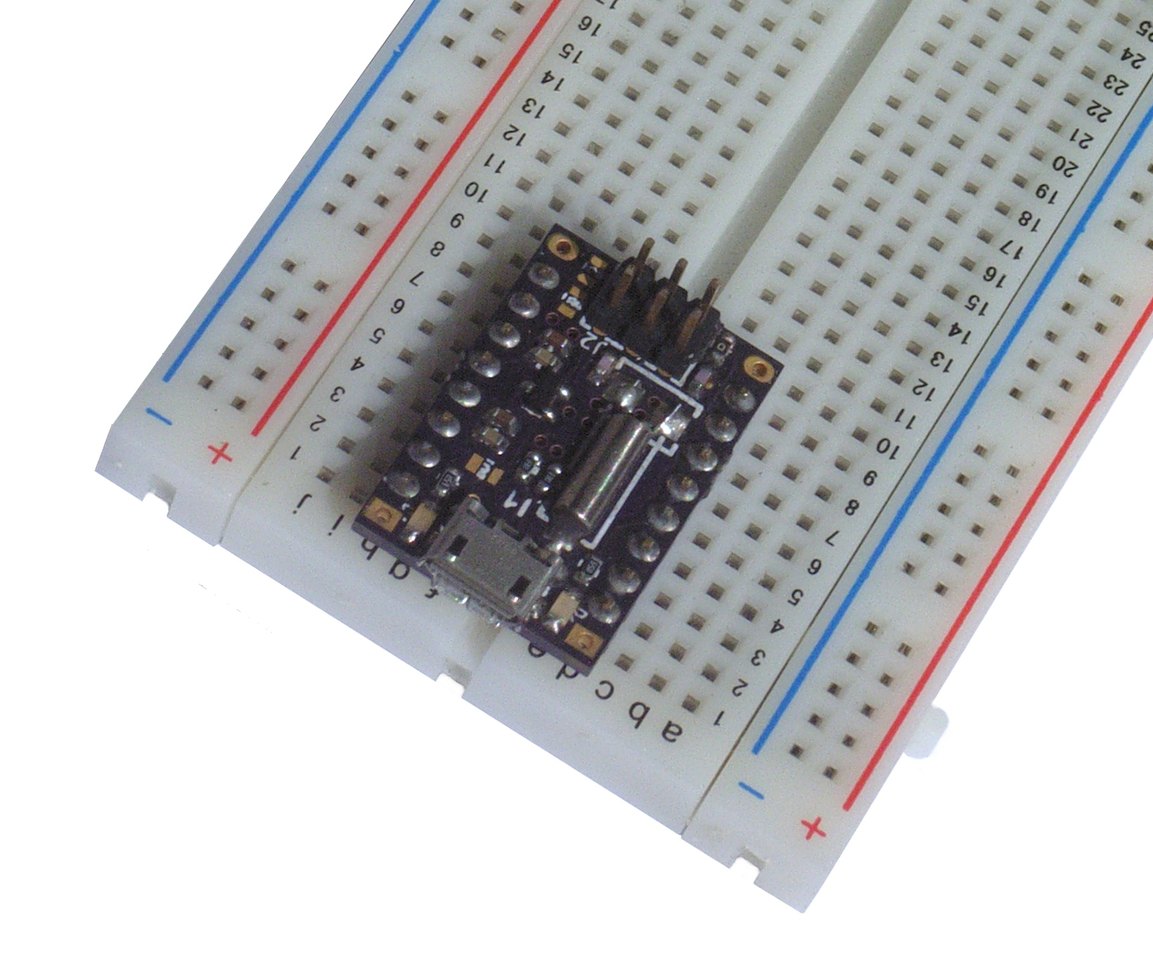 microjs on a breadboard